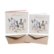 Wrendale All Wrapped Up Ducks Box of 8 Christmas Cards